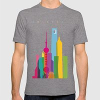 Shapes Of Shanghai. Accu… Mens Fitted Tee Tri-Grey SMALL
