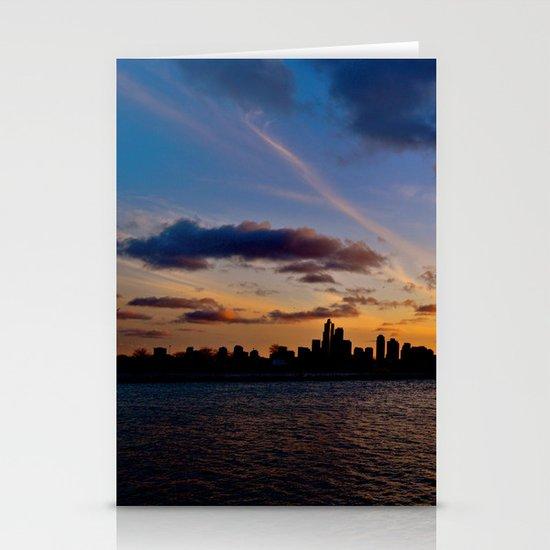 Chicago Sunset Stationery Card