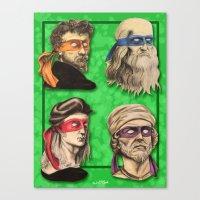 Renaissance Mutant Ninja Artists Canvas Print