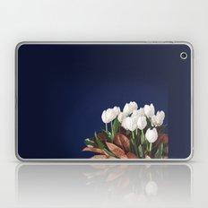 White Tulips Laptop & iPad Skin