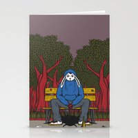ALONE  IN THE PARK Stationery Cards