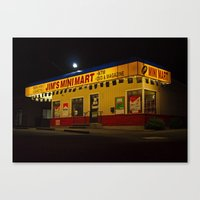Canvas Print featuring Local convenience store by Vorona Photography