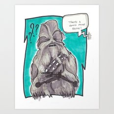 Good Point Bear Art Print