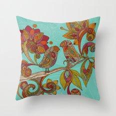 Hello Birds Throw Pillow