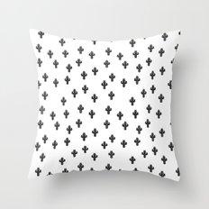 Catctus Black On White Throw Pillow