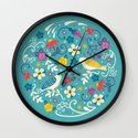 Garden Birds Wall Clock
