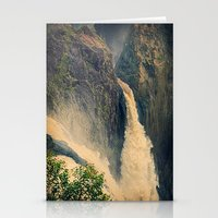 Barron Falls in retro style Stationery Cards