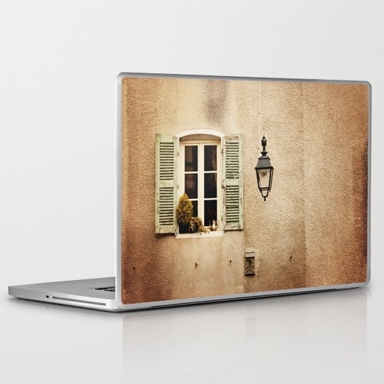 Window with Shutters and Teapot Laptop & iPad Skin