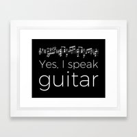 Speak guitar? Framed Art Print