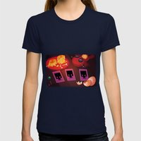 Voodoo table Womens Fitted Tee Navy SMALL