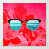 iSea Pink Canvas Print