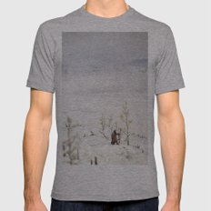 Tom Feiler Solitary Trapper Mens Fitted Tee Athletic Grey SMALL