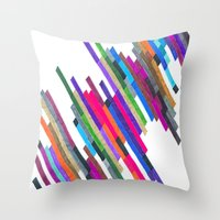 Crazy Lines B Throw Pillow