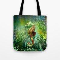 Seahorse Tropical Ocean … Tote Bag