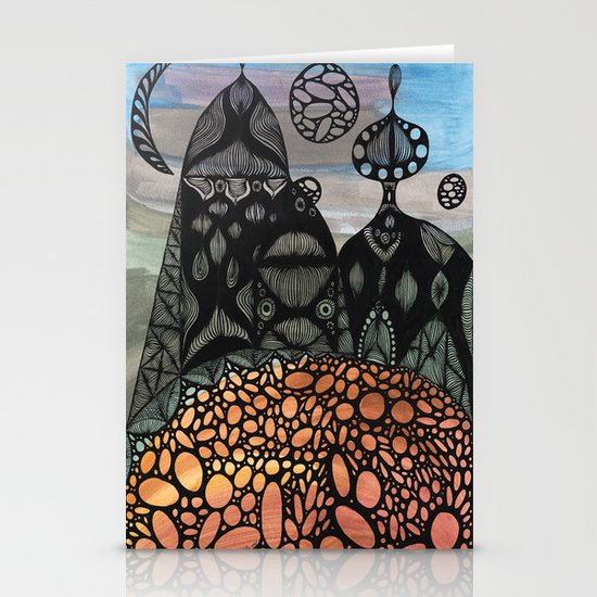 King and Queen Stationery Card