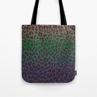 LEOPARD Hue-TAUPE GREEN … Tote Bag