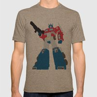 Transformers G1 - Optimus Prime Mens Fitted Tee Tri-Coffee SMALL
