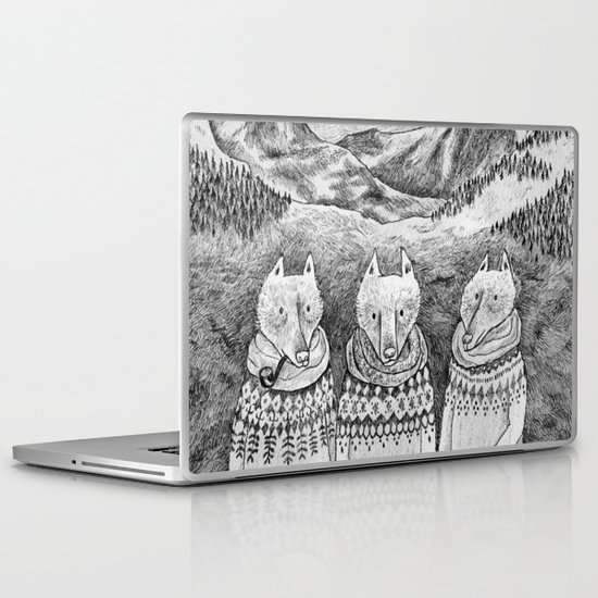 Icelandic foxes Laptop & iPad Skin