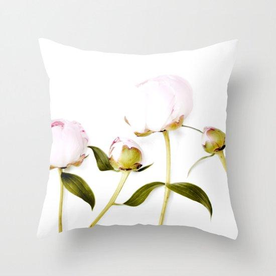 Peony Bulbs Throw Pillow