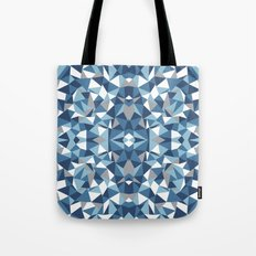 Abstract Collide Blues Tote Bag