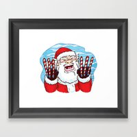 Santa Claws Framed Art Print