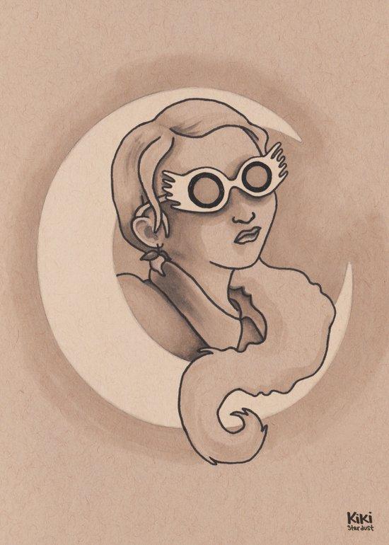Lovely Luna Art Print