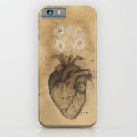 iPhone & iPod Case featuring PHILOSOPHY OF HEART Vintage Anatomy Study - Oleanders & Heart by Casstronaut