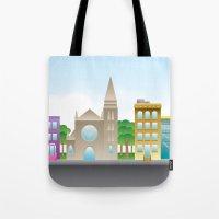 Park Slope Skyline (Colo… Tote Bag
