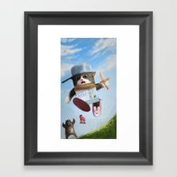 Cat Knight Framed Art Print