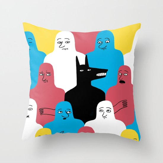 A Wolf Throw Pillow