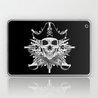 Pirate Skull And Crossbones with Grunge Effect Laptop & iPad Skin