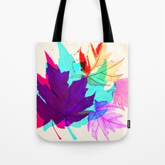 Maple Leaves Falling Tote Bag
