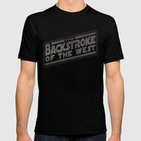 Backstroke of the West Mens Fitted Tee Black SMALL