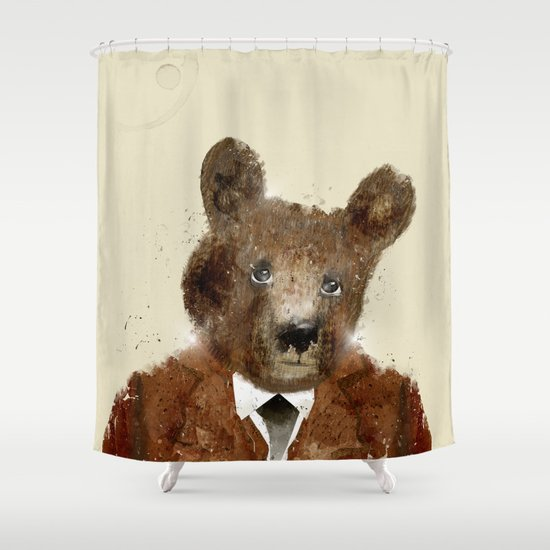 sunday bear Shower Curtain