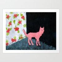 Dog Room Art Print