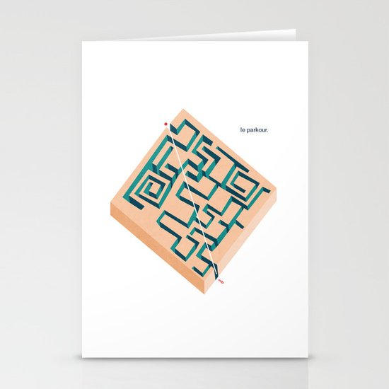 Le Parkour Stationery Card