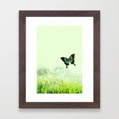Green Butterfly Framed Art Print