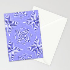 Pattern in blue Stationery Cards