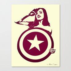 Captain Girl America Canvas Print