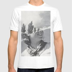 Head in the Clouds SMALL Mens Fitted Tee White