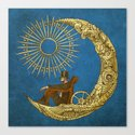 Moon Travel (Colour Option) Canvas Print