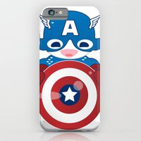 iPhone & iPod Case featuring CAPTAIN AMERICA ROBOTIC by We are Robotic