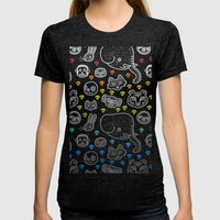Hypno Animals Womens Fitted Tee Tri-Black SMALL