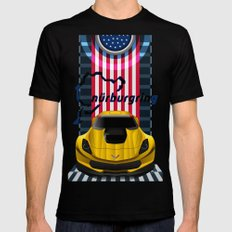 The Yellow King Corvette C7 Mens Fitted Tee Black SMALL