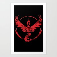 Team Valor Grunge Art Print