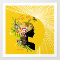 My Trendy Ascot Hat Art Print