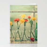 Ranunculus, Bottles and Window Still Life Stationery Cards