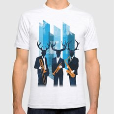 Horn Section Mens Fitted Tee Ash Grey SMALL