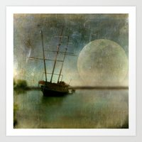 Shipwreck On Lake Ontari… Art Print