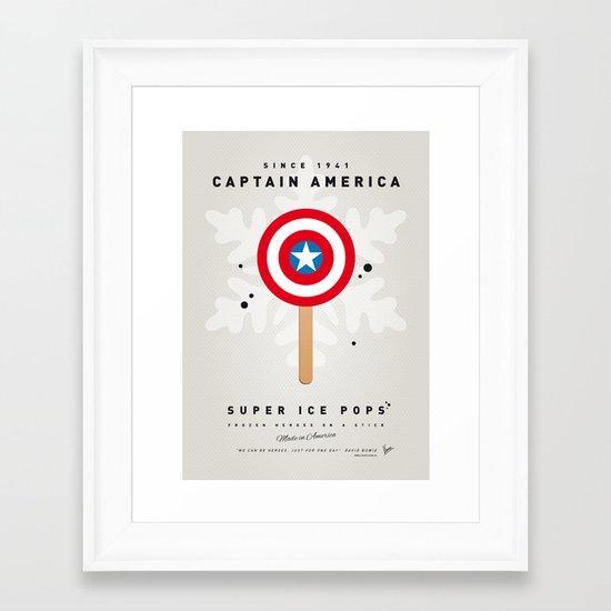 My SUPER ICE POP- No08 - America Captain Framed Art Print